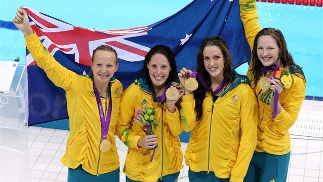 Australia Team - 4x 100m Freestyle Relay